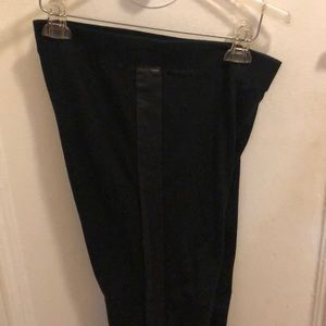 Victoria's Secret leggings/leather stripe on side
